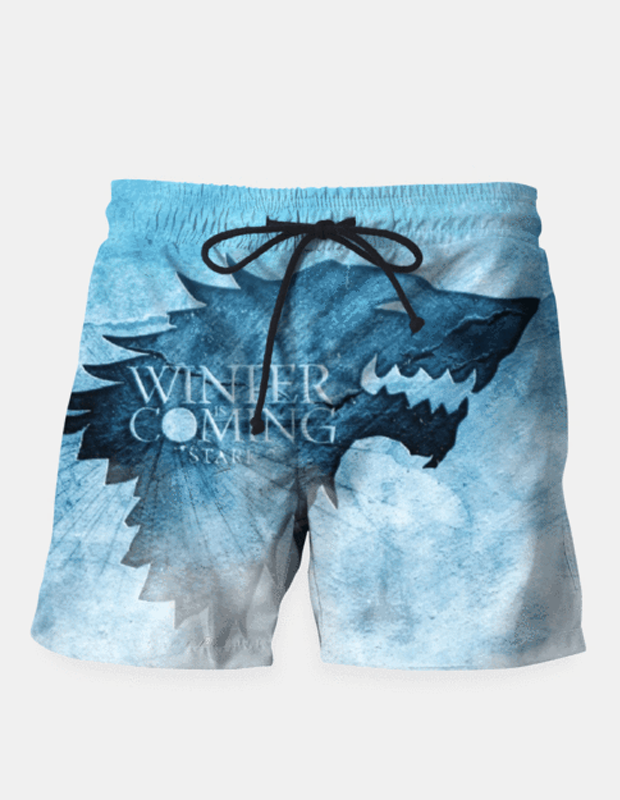 "Maria Shorts SMALL (28""-18"") / us Winter Is Coming - Games Of Thrones Shorts"