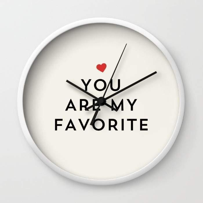 Dany Designs Wall Clock YOU ARE MY FAVORITE Wall clock