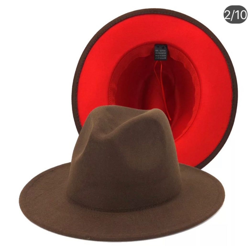 """TWO-TONE FEDORA"" Hats"