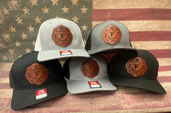Custom IAFF Leather Patch Hat