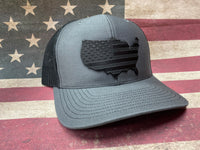 USA Leather Patch Hat