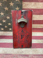 Red IAFF Bottle Opener