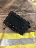 Thin Red Line Minimalist Wallet