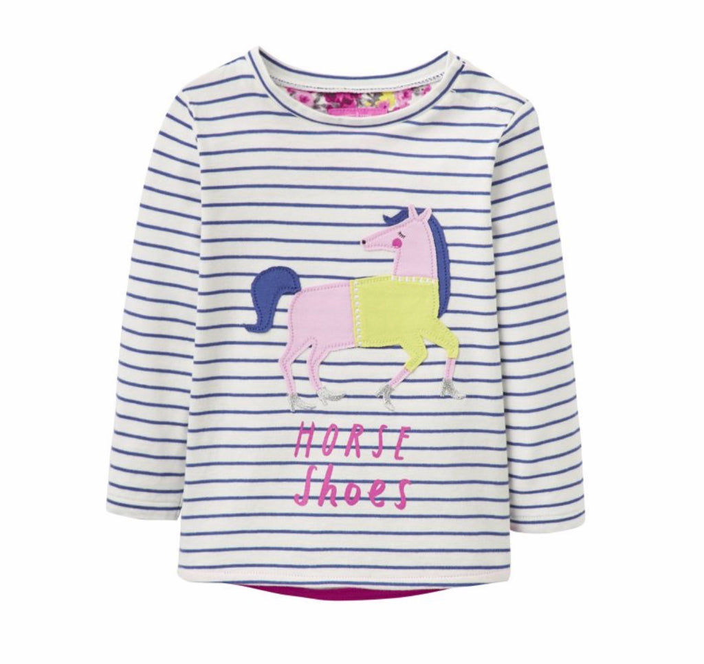 Joules Childs Ava Appliqué Jersey Top