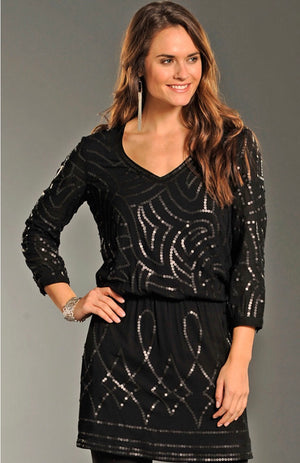 Rock & Roll Cowgirl Sequin Dress*