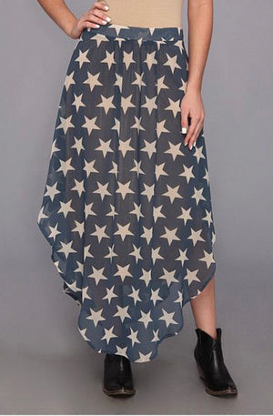 Tasha Polizzi Star Spanged Skirt*