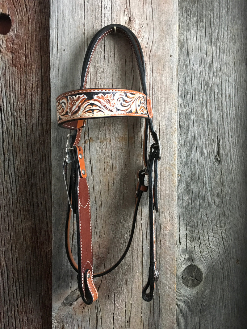 Bar H Equine Tri Color Browband Headstall*