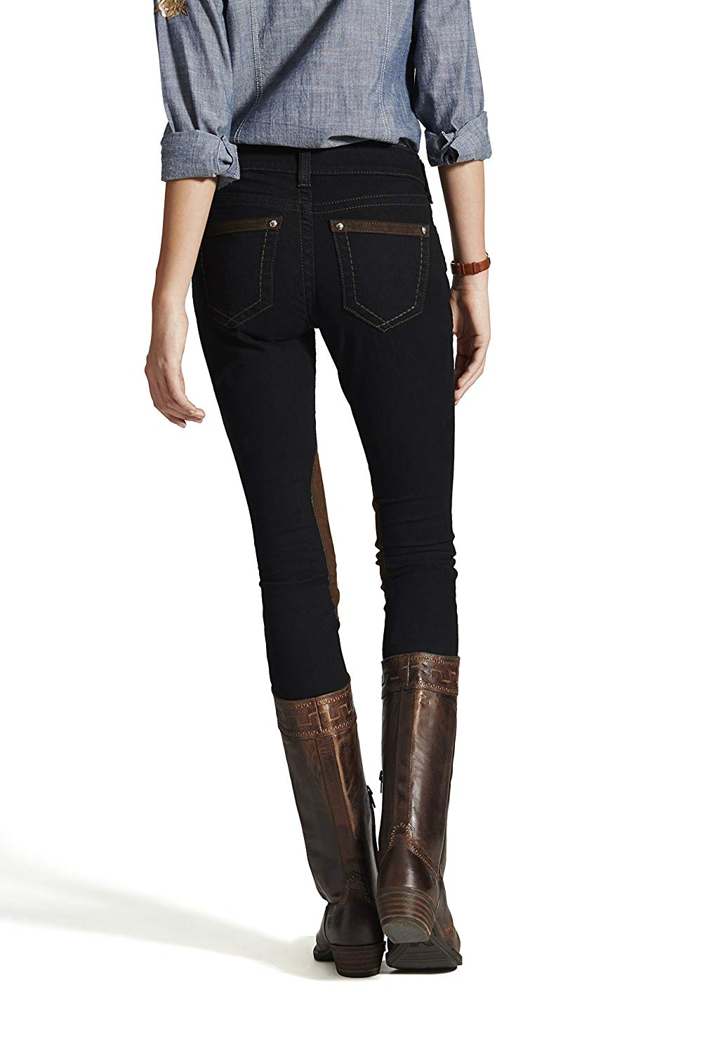 Ariat Onyx Straight Edge Knee Patch Breech*