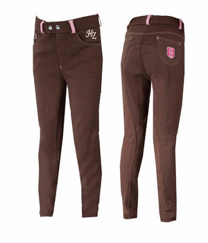 Horze Jen Jr Narrow Knee Patch Breech *
