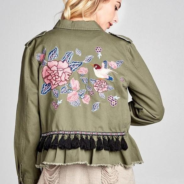 Oddi Embroidered Military Jacket*