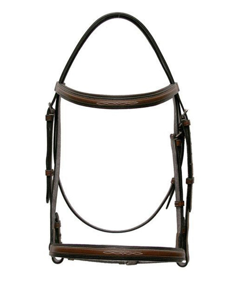 Harmohn Kraft Americana Fancy Square Raised Bridle and Reins - Pony