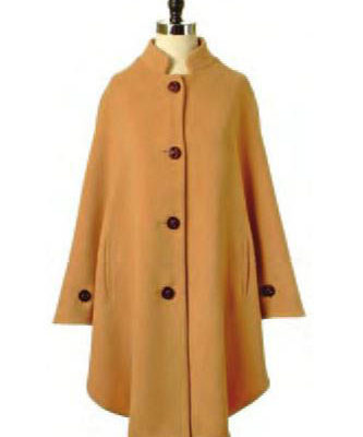 4 Button Wool Cape