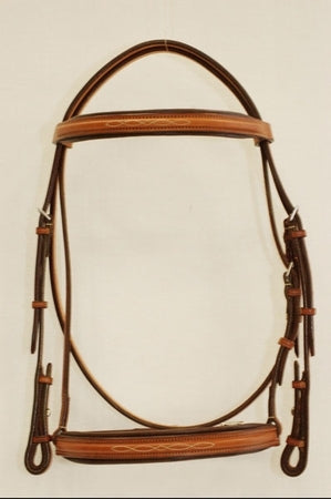 Edgewood Fancy Stitched Raised Padded Bridle - Cob