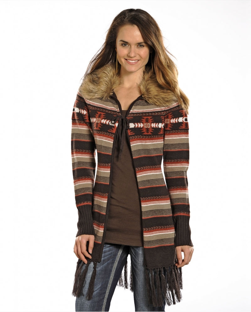 Powder River Outfitters™ Ladies Aztec Knit Cardigan*