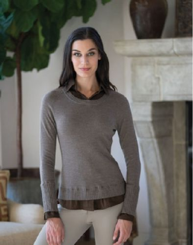 Goode Ride Layered Sweater Fawn/Heather