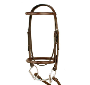Silverleaf Fancy Square Raised Padded Bridle and Reins - Cob