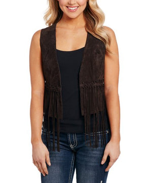Cripple Creek Leather Fringe Vest *