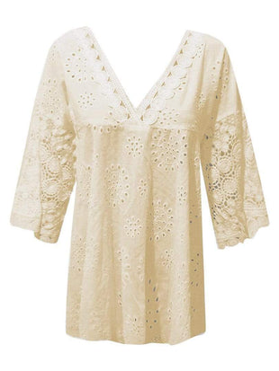fashion loose lace blouse