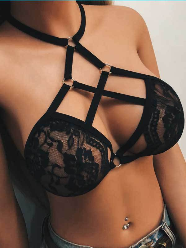 Fashion Black Lace Underwear