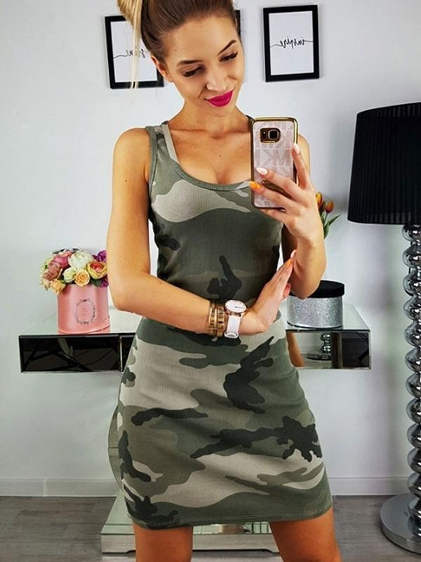Army Green Sundress