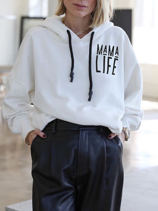 Mama Life Zip Up Hooded Sweatshirt