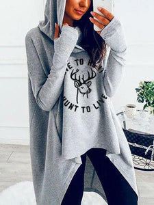 Women Hunting Medium Length Hoodie