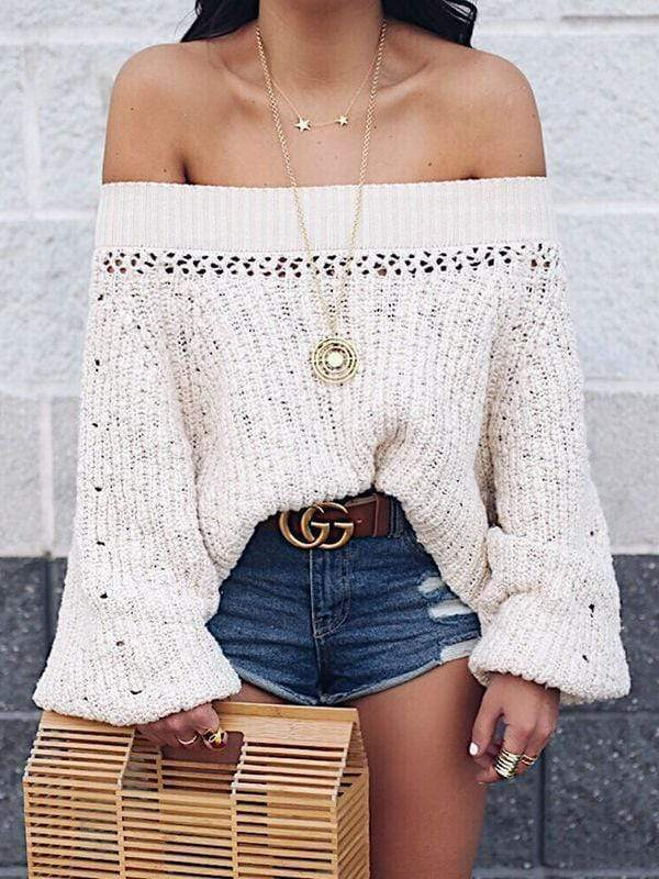 Lantern Long Sleeve Loose Sweater