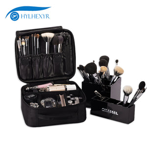 Travel Makeup Train Case Makeup Cosmetic Case Organizer Portable Artist  Storage Bag 9.8u0027u0027 With