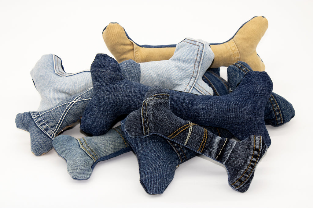 Denim Dog Bones