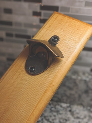 Reclaimed Wood Bottle Opener