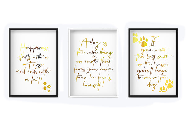 A Dog is the only thing on earth - Quote - Dog - Foil Print