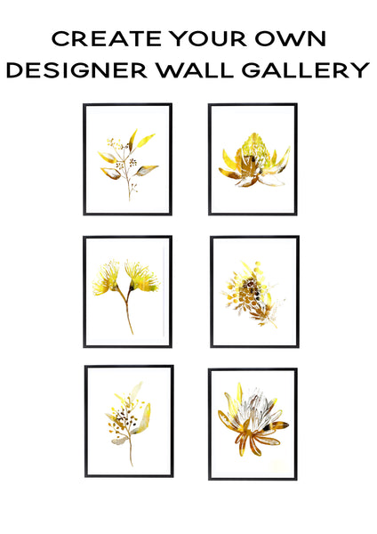 Wattle Wall Art Foil Prints