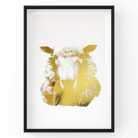 Sheep Farm Animal Wall Art Foil Prints