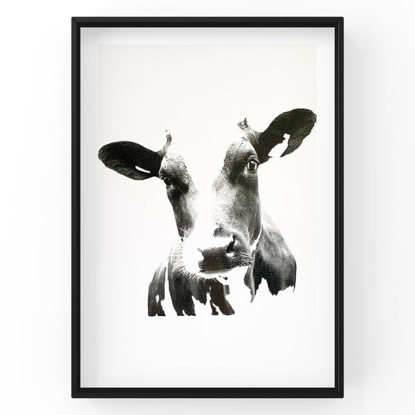 Cow Farm Animal Wall Art Foil Prints