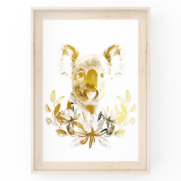 Koala Wall Art Foil Prints