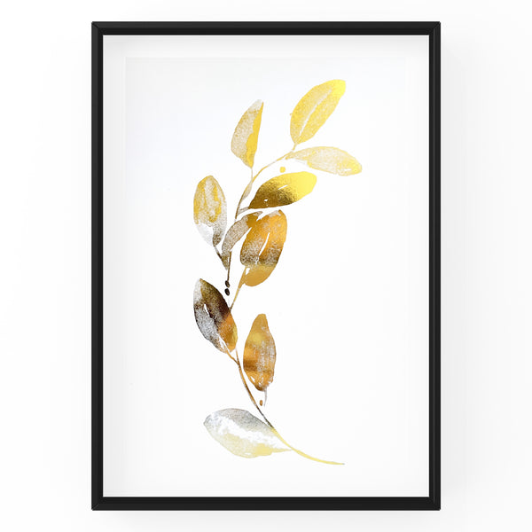 Eucalyptus Leaves Wall Art Foil Prints