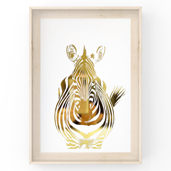 Zebra Safari Animal Foil Print
