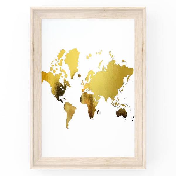 Map of The World - Foil Print