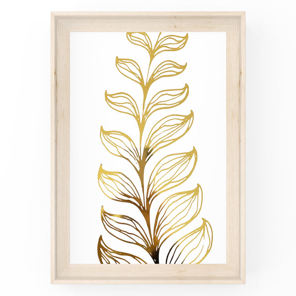 Botanical Abstract Leaf & Stem - Foil Print