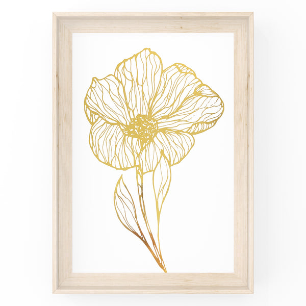 Botanical Abstract Flower - Foil Print
