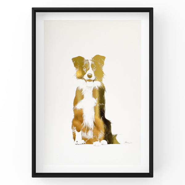 Border Collie - Dog Wall Art Foil Prints