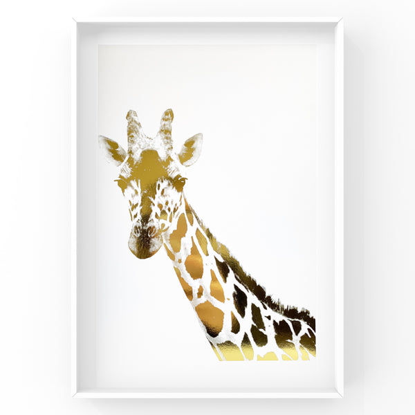 Giraffe Safari Animal Foil Print
