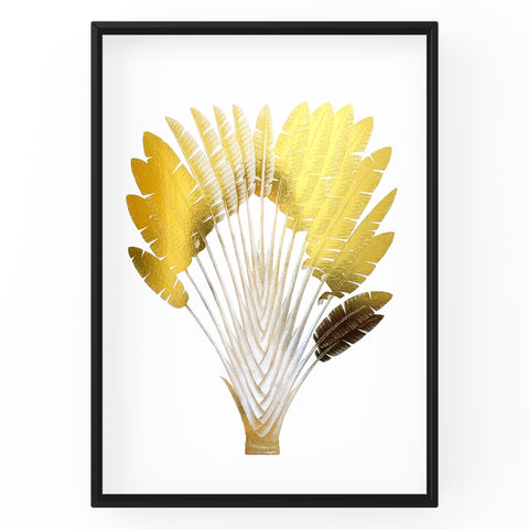 Travellers Palm Tree - Foil Print