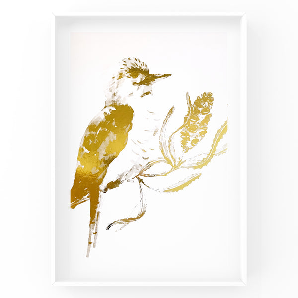 Kookaburra Wall Art Foil Prints