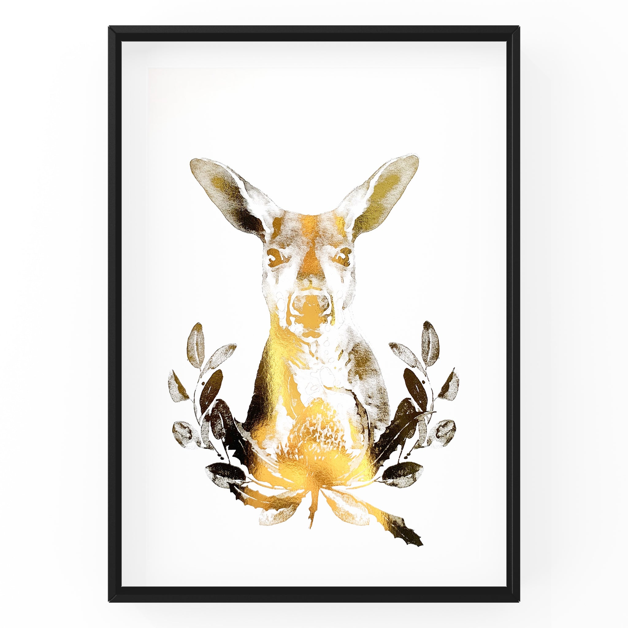 Kangaroo Wall Art Foil Prints