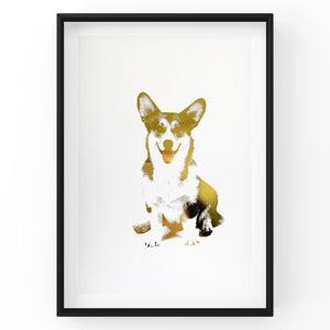 Corgi - Dog Wall Art Foil Prints