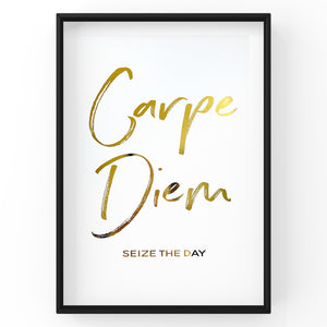 Carpe Diem Seize The Day - Foil Print