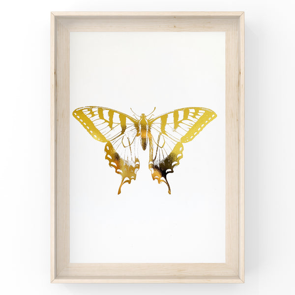 Butterfly Wall Art Foil Prints