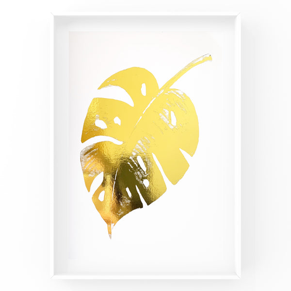 Monstera Leaf - Foil Print