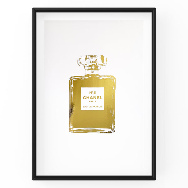 Chanel No 5 Perfume Bottle - Foil Print